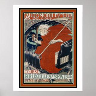 Kunst Nouveau Automobil-Club-Plakat 16 x 20 Poster
