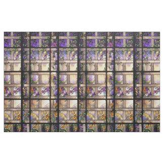 Kunst Nouveau beflecktes Glas-Blumen-Gewebe Stoff