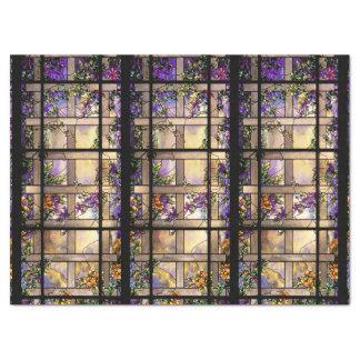 Kunst Nouveau beflecktes Glas-Blumen-Seidenpapier Seidenpapier