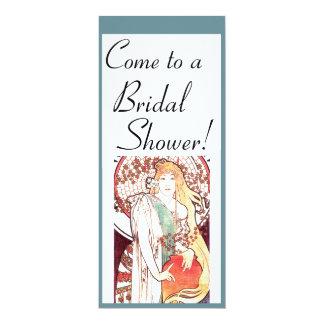 Kunst Nouveau Brautparty-Einladung 10,2 X 23,5 Cm Einladungskarte
