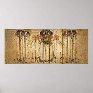 Kunst Nouveau Charles Mackintosh das Wassail Poster