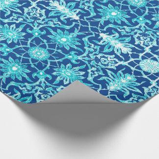 Kunst Nouveau chinesisches Muster - Türkis und Einpackpapier