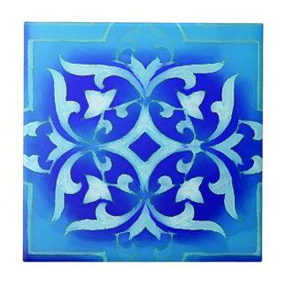 Kunst-nouveau Motive in den Blues Kleine Quadratische Fliese