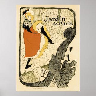 Kunst Nouveau Tänzer Jane Avril, Toulouse Lautrec Poster