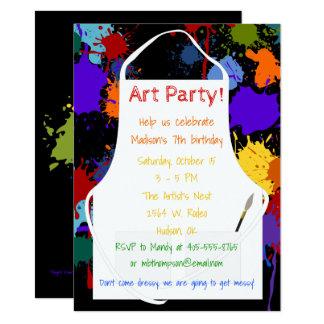 Kunst-Party Brights Farben 11,4 X 15,9 Cm Einladungskarte