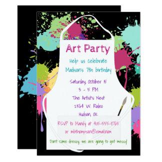 Kunst-Party-Pastell-Farben 11,4 X 15,9 Cm Einladungskarte