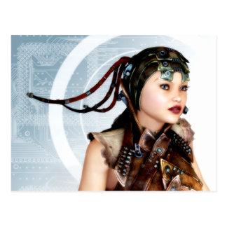 Kunst-Postkarte des Cyber-Schmutz-3d Postkarte