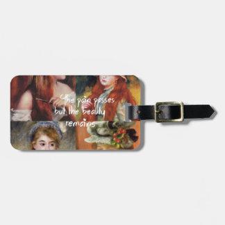 Kunst, Schönheit und Liebe in Renoir Malereien Kofferanhänger