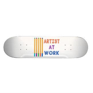 Künstler an den Arbeits-Öl-Pastellen Personalisiertes Skatedeck