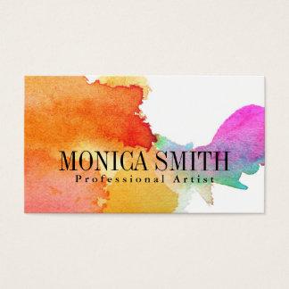 Künstler-Aquarell Hadpainted Blick-Visitenkarte Visitenkarten