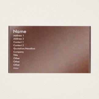 Künstler stellte handgemachtes kupfernes Blatt her Visitenkarten