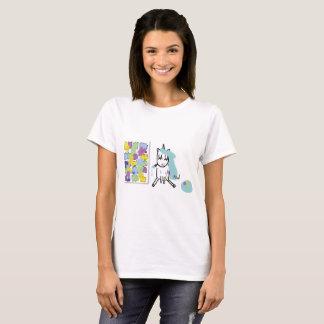 Künstlerin-Einhorn - Tshirt