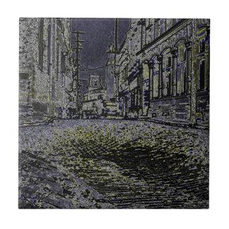 Künstlerisch die Straßen von dreißiger Jahren Fliese