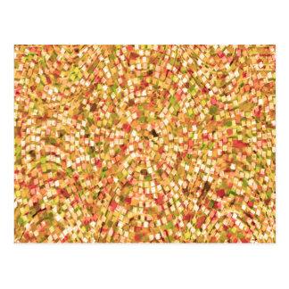 Künstlerische Confetti-Schablone DIY addieren Text Postkarte
