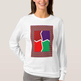 KÜNSTLERISCHE Farbgrafik-INTENSIVE Energie T-Shirt