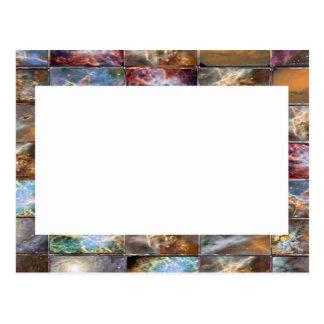 Künstlerische Grenze - addieren Sie Ihren Text Postkarte