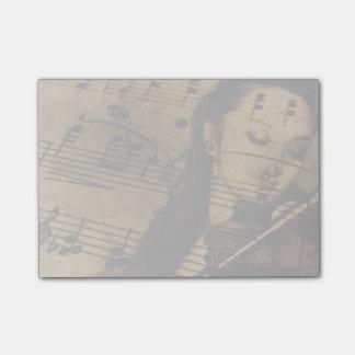 Künstlerische Violinen-Musik Post-it Klebezettel