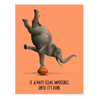 Künstlerischer Elefant Postkarte