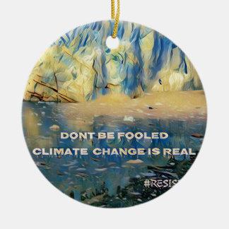 Künstlerischer schmelzender Gletscher-'Klimawandel Keramik Ornament