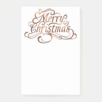 Kupfer-Blick Skriptentwurf froher Weihnachten Post-it Klebezettel
