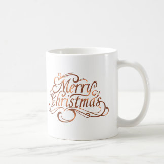 Kupfer-Blick Skriptfeiertagsentwurf froher Tasse