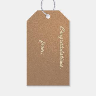 Kupfer-Farbige Glückwunsch-Geschenk-Umbauten Geschenkanhänger