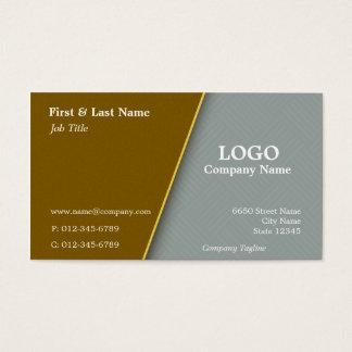Kupfer mit grauem Querluken-Visitenkarte-Entwurf Visitenkarte