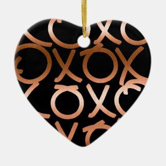 Kupfer XOXO Keramik Ornament