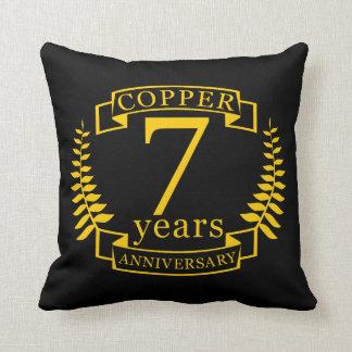 Kupferner Hochzeitstag 7 Jahre Kissen