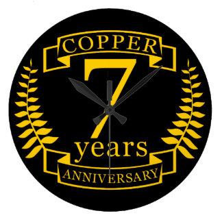 Kupferner Hochzeitstag 7 Jahre Wanduhr
