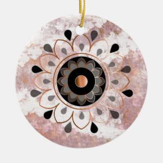 Kupferner Mandela Keramik Ornament