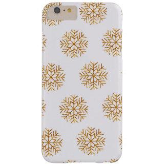 Kupferner und Elfenbein-Schneeflocke-Telefon-Fall Barely There iPhone 6 Plus Hülle