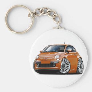 Kupfernes Auto Fiats 500 Schlüsselanhänger