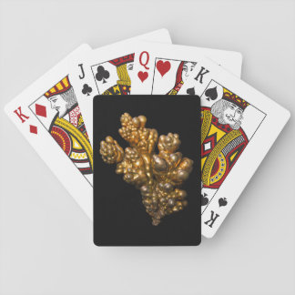 Kupfernes Foto auf schwarzem Hintergrund Pokerkarte