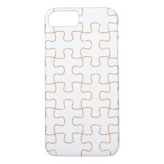 Kupfernes weißes Puzzlespiel Girly iPhone 7 Fall iPhone 8/7 Hülle