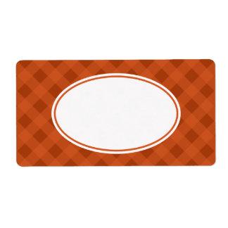 Kürbis-Fall-Nahrungsmittelküchen-Gingham-Aufkleber