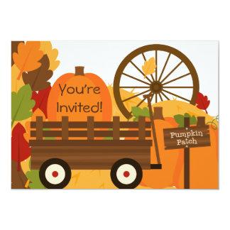 Kürbis-Flecken-Herbst-Party Einladungen