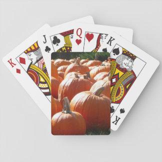 Kürbis-Foto für Fall, Halloween oder Erntedank Pokerkarten
