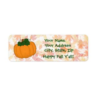 Kürbis-Herbstlaub-glücklicher Fall Sie