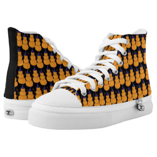 Kürbis-Mann-Halloween-Wanderer Hoch-geschnittene Sneaker
