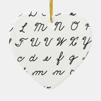 Kursivhandschriftsdiagramm Keramik Herz-Ornament
