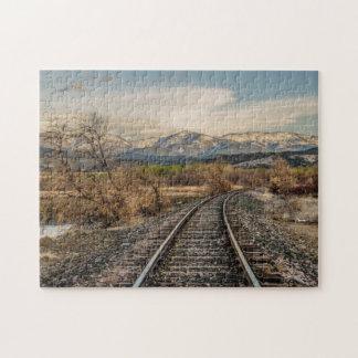 Kurve in den Bahnen - Bahnstrecken - Berge Puzzle