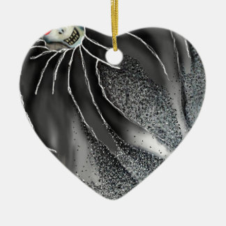 Kuss des ewigen Schlafes Keramik Herz-Ornament
