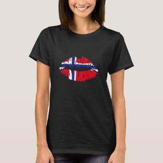 Kuss-Norwegen-Flagge T-Shirt