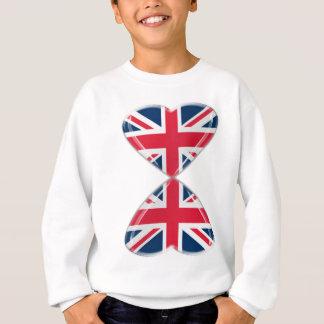 Küssen der BRITISCHEN Herz-Flaggen Sweatshirt
