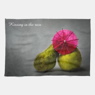Küssen im Regen Küchentuch