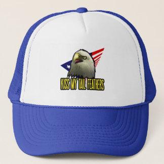 Küssen Sie meinen Schwanz-Feder-Amerikaner-Adler Truckerkappe