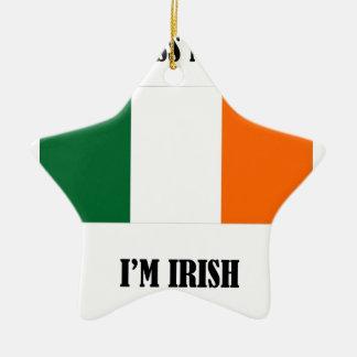 Küssen Sie mich, den ich - Flagge irisch bin Keramik Stern-Ornament