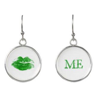Küssen Sie mich, den ich irischer grüner Ohrringe