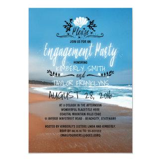 Küste des Strand-Verlobungs-Party-  12,7 X 17,8 Cm Einladungskarte